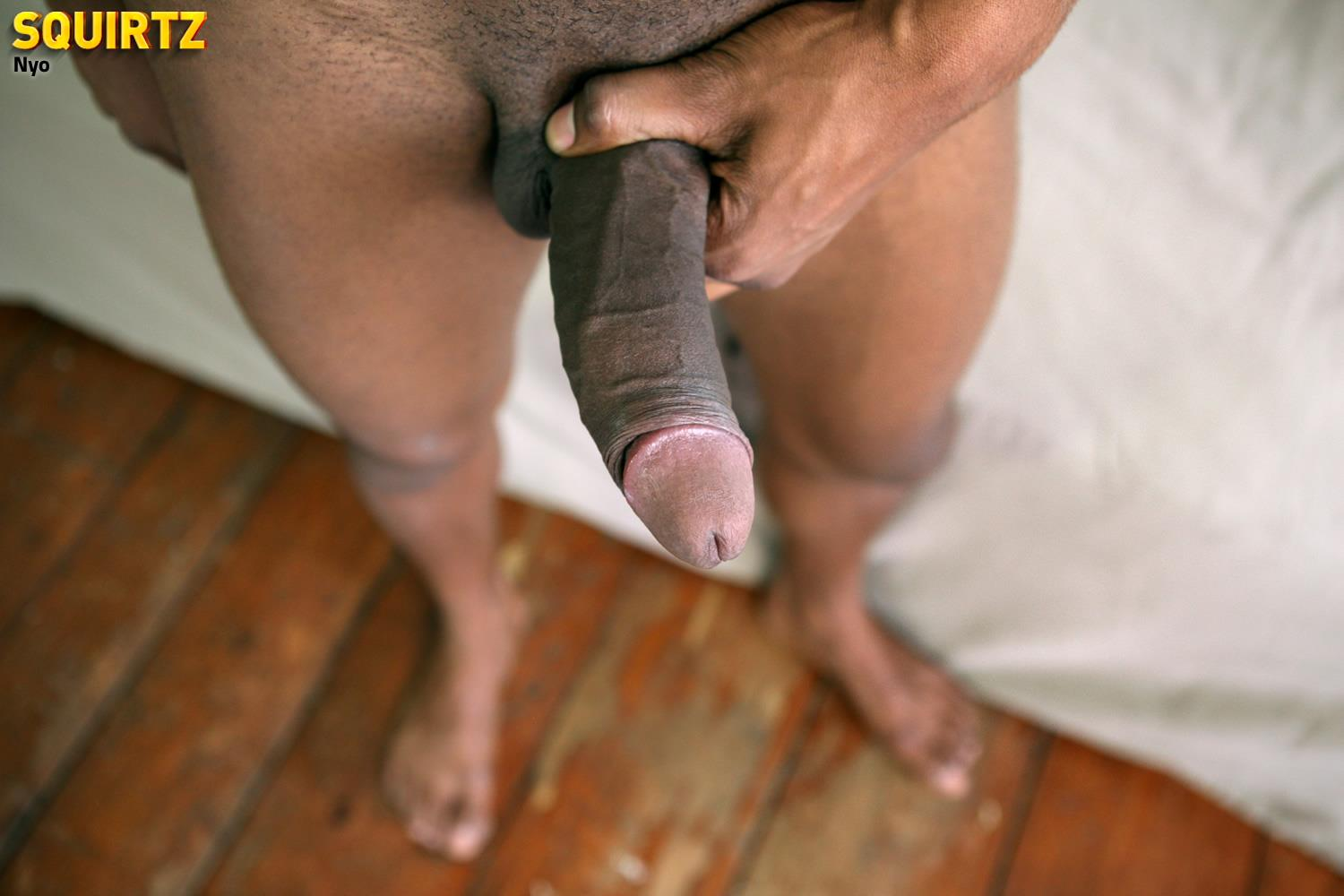 Squirtz Nyo Big Uncut Black Cock Jerking Off Cum Shot Amateur Gay Porn 23 Young Black Guy Jerking His Massive Uncut Black Cock