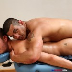 UK Naked Men Gio Cruz and Mark Coxx Big Muscle Uncut Cock Guys Fucking Amateur Gay Porn 06 150x150 Muscle Daddy Fucks an Amateur Younger Guy With A Huge Uncut Cock