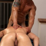 UK Naked Men Gio Cruz and Mark Coxx Big Muscle Uncut Cock Guys Fucking Amateur Gay Porn 10 150x150 Muscle Daddy Fucks an Amateur Younger Guy With A Huge Uncut Cock