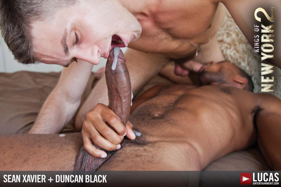 Lucas-Entertainment-Kings-Of-New-York-Season-2-Sean-Sean-Xavier-and-Duncan-Black-Interracial-Fucking-Big-Black-Cock-Amateur-Gay-Porn-20 White Hunk Takes A 12