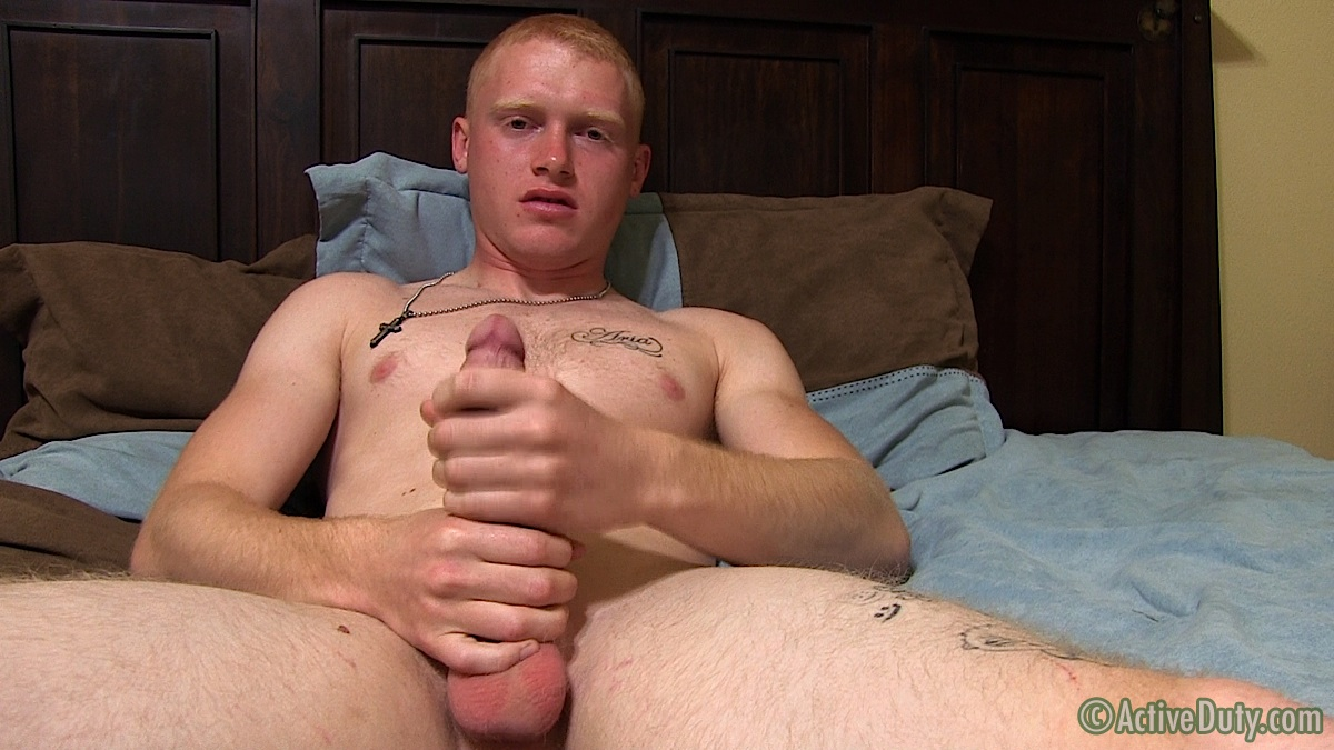 ActiveDuty Redhead Nick Army Guy With Huge Ginger Cock Jerk Off Amateur Gay Porn 09 Amateur Straight Redheaded Army Stud Jerks His Huge Cock