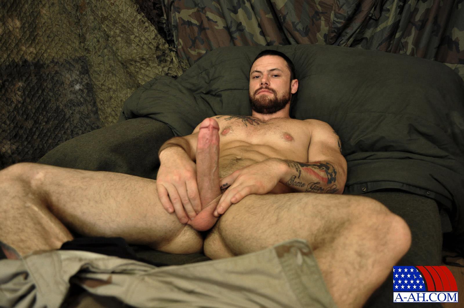 All American Heroes Sergeant Miles Army Guy Jerking Off Big Cock And Fingering Ass Amateur Gay Porn 08 Happy Veterans Day: Straight US Army Sergeant Jerks His Thick Cock