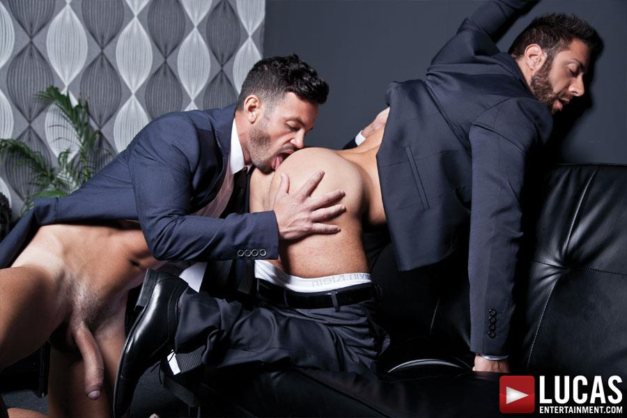Lucas Entertainment Adriano Carrasco and Valentino Medici Huge Uncut Cocks Men In Suits Fucking Amateur Gay Porn 11 Hunks In Business Suits With Big Uncut Cocks Fucking Hard