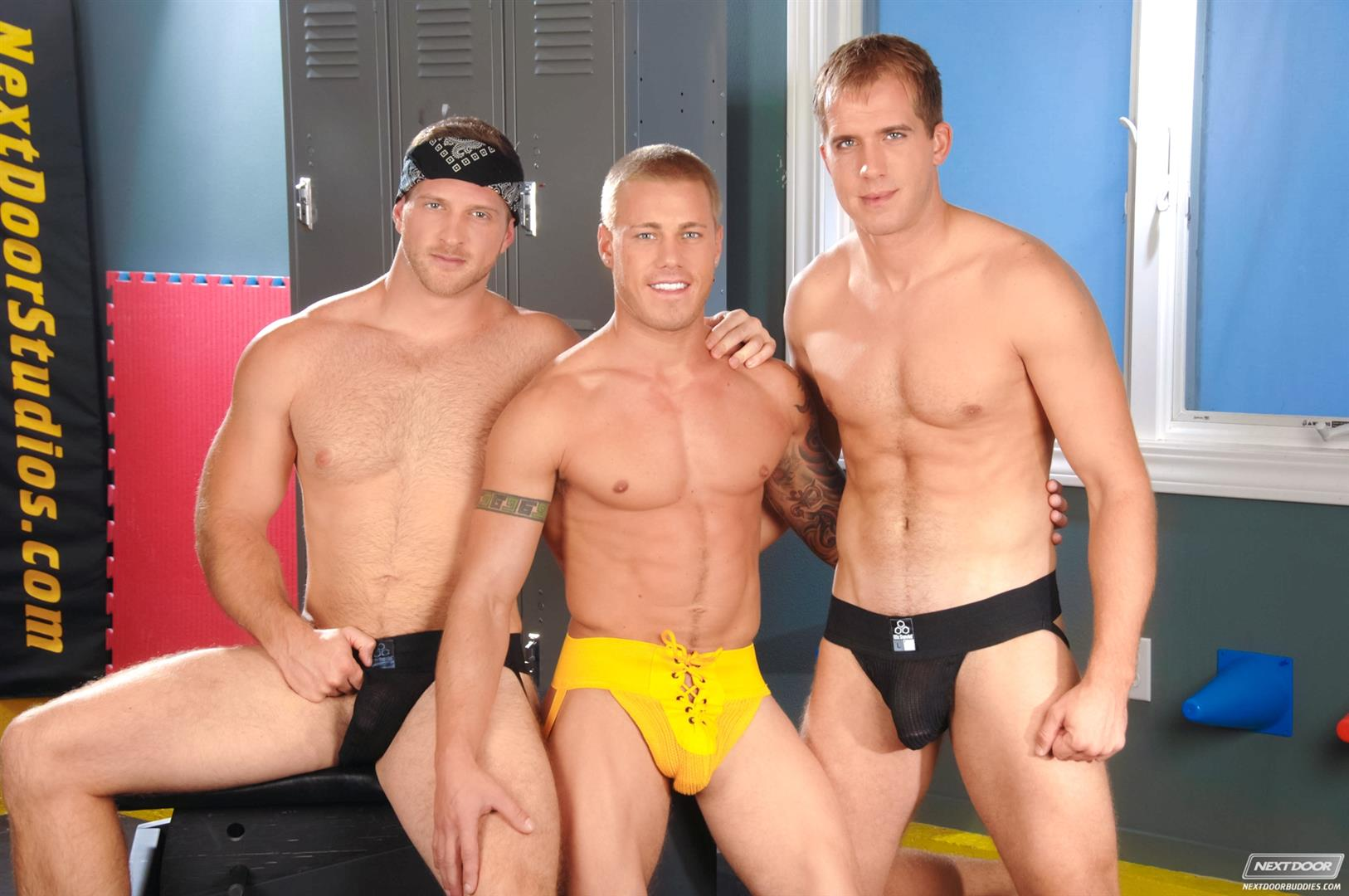 Next Door Buddies Brandon Lewis Paul Wagner Brody Wilder Hung Jocks Fucking In The Locker Room Amateur Gay Porn 07 Muscle Jocks Tag Teaming A Hot Muscle Ass In The Gym Locker Room