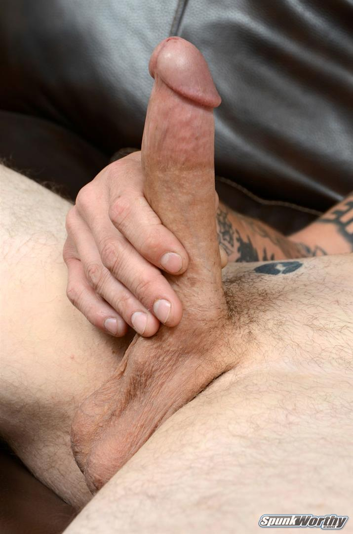 amateur straighttatted marine jerking his big cock