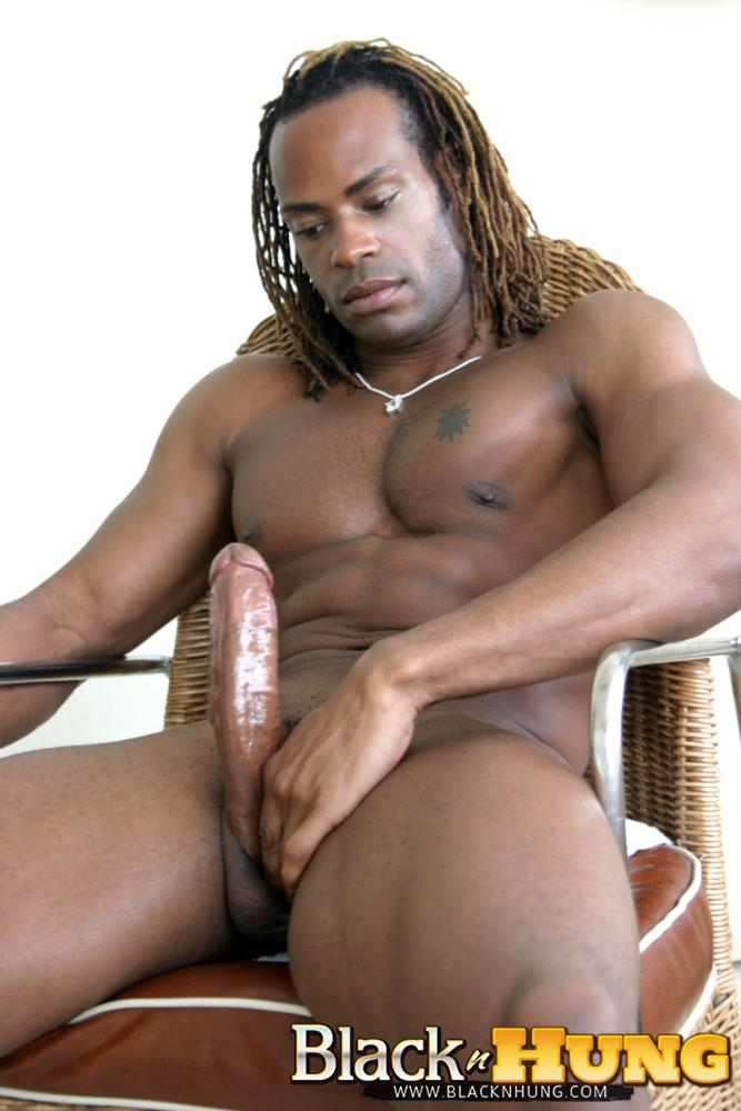 BlacknHung Marlone Starr Hung Black Guy Jerking His Big Black Cock Amateur Gay Porn 11 Amateur Black Muscle Hunk Marlone Starr Jerks His Big Black Cock