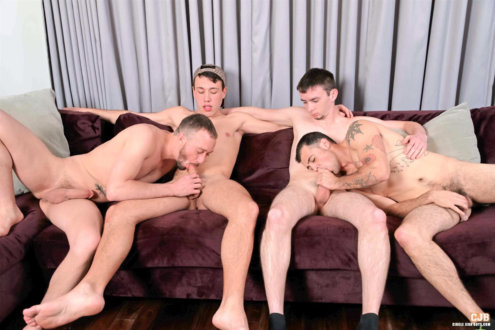 Circle Jerk Boys Kirk Cummings and Trent Jackson and Jake Jammer and Blake Stone Cock Sucking Young Guys Amateur Gay Porn 04 4 Hard Cocks, 4 Young Men, 4 Cock Suckers, 4 Loads Of Cum