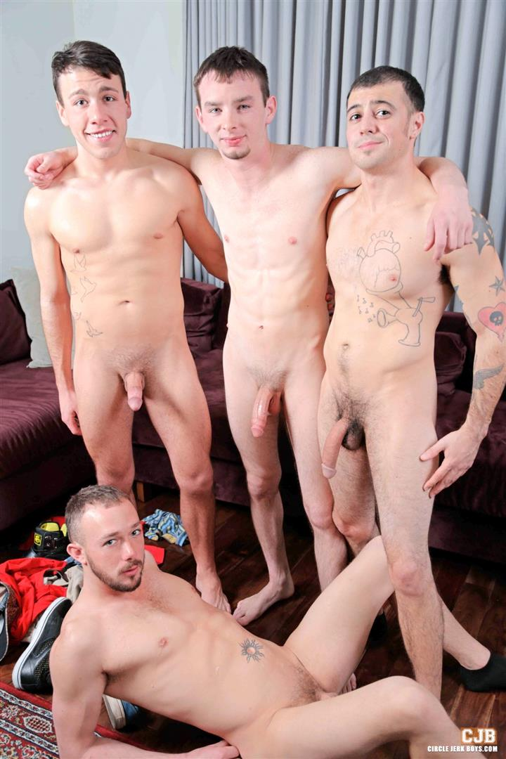 Circle Jerk Boys Kirk Cummings and Trent Jackson and Jake Jammer and Blake Stone Cock Sucking Young Guys Amateur Gay Porn 14 4 Hard Cocks, 4 Young Men, 4 Cock Suckers, 4 Loads Of Cum