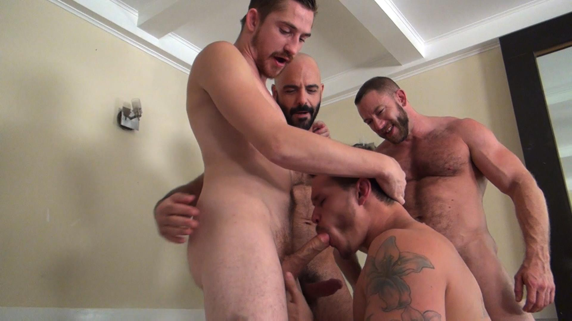Raw Fuck Club Dayton OConnor Tate Ryder Shay Michaels Adam Russo Bareback Breeding Amateur Gay Porn 4 Tate Ryder Gets Three Hairy Muscle Daddy Bareback Cocks