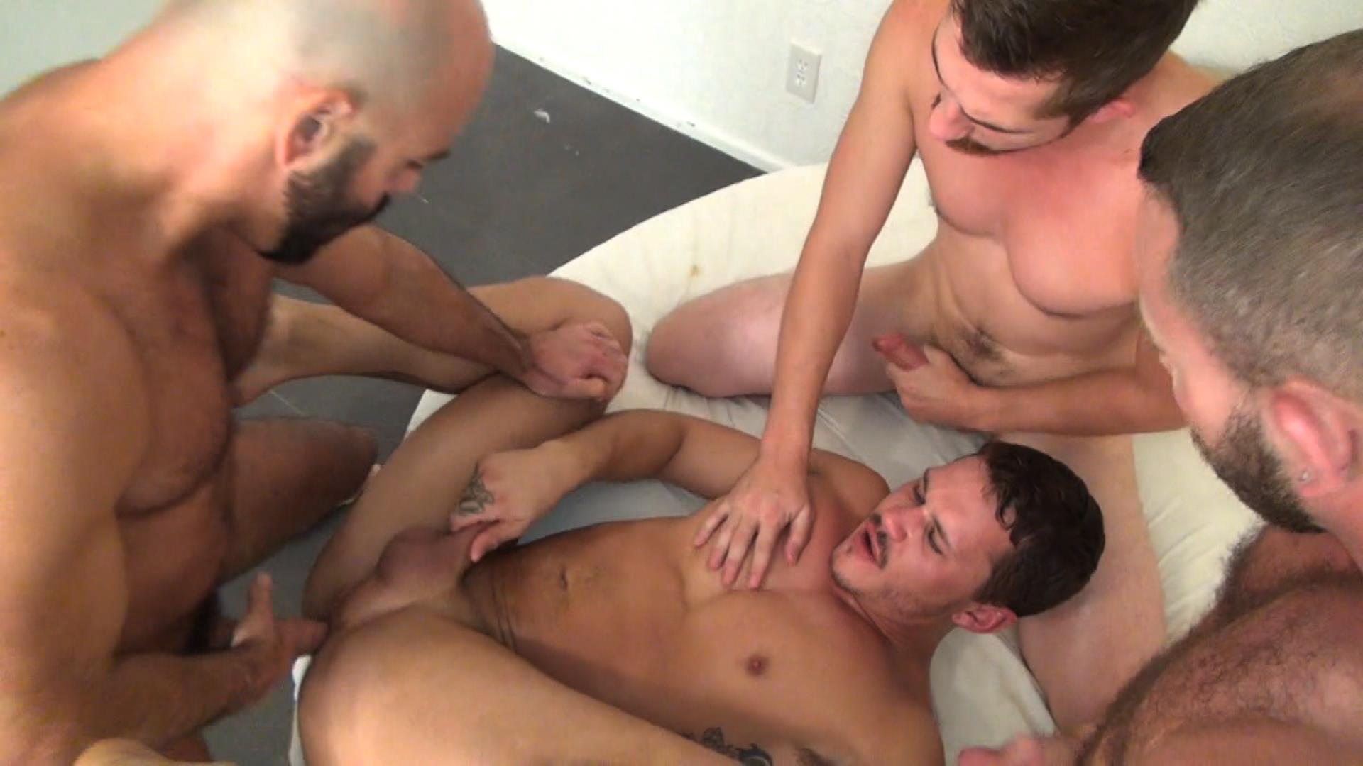 Raw Fuck Club Dayton OConnor Tate Ryder Shay Michaels Adam Russo Bareback Breeding Amateur Gay Porn 6 Tate Ryder Gets Three Hairy Muscle Daddy Bareback Cocks