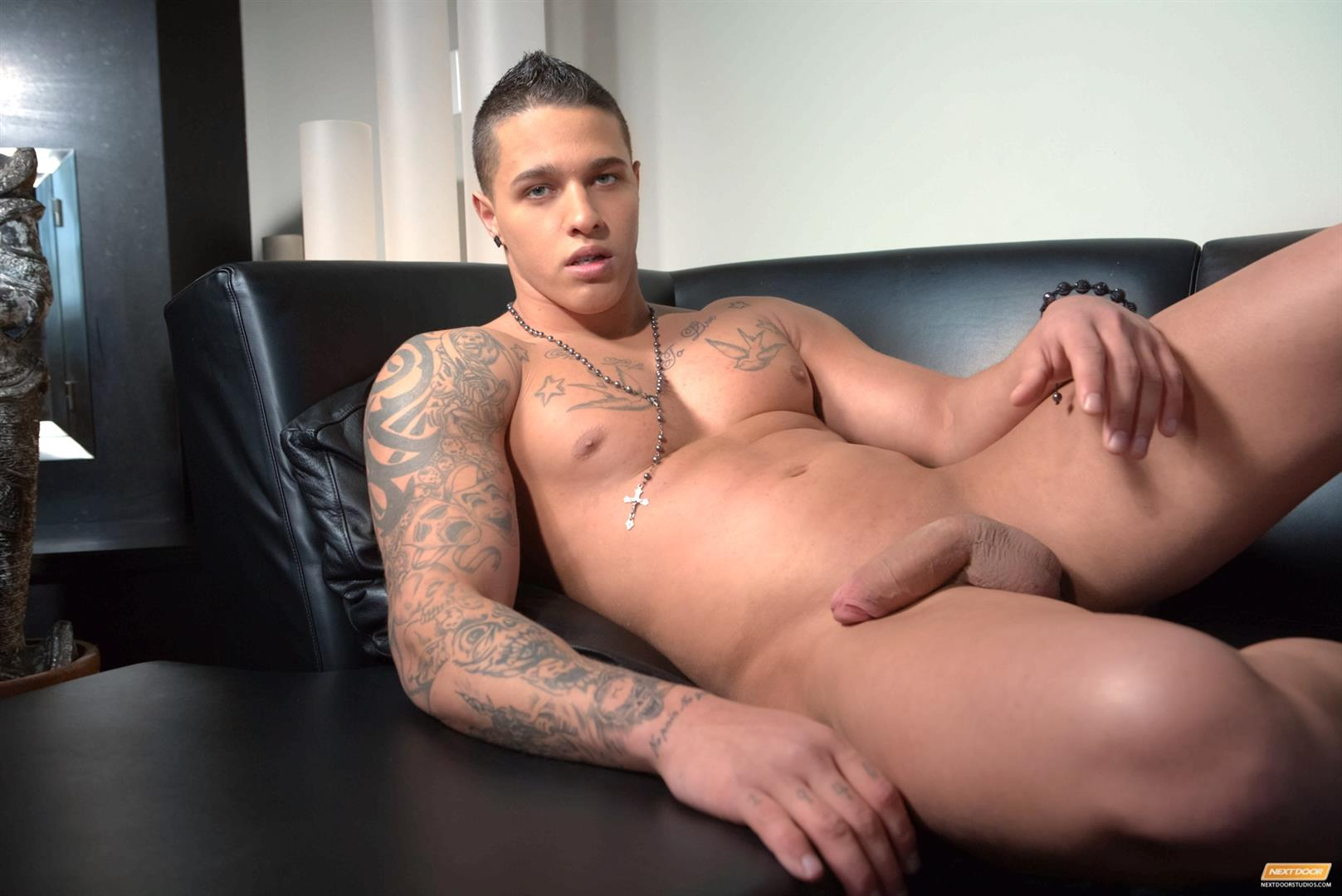 Next-Door-Male-Johnny-Diesel-Muscle-Hunk-Jerking-A-Big-Uncut-Cock-Amateur-Gay-Porn-08 Muscle Hunk Johnny Diesel Stroking His Thick Uncut Cock