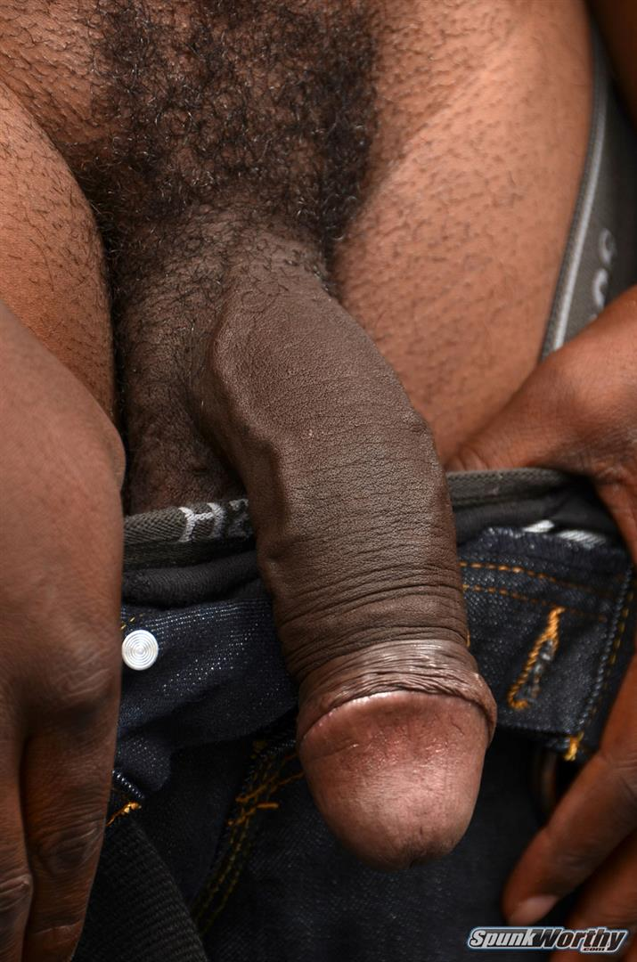 SpunkWorthy Heath Naked College Football Player Stroking His Big Black Cock Amateur Gay Porn 04 Straight College Football Player Jerking His Big Uncut Black Cock