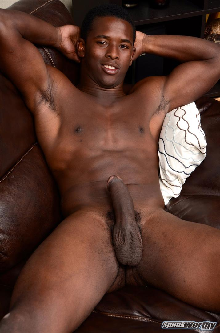 SpunkWorthy Heath Naked College Football Player Stroking His Big Black Cock Amateur Gay Porn 16 Straight College Football Player Jerking His Big Uncut Black Cock