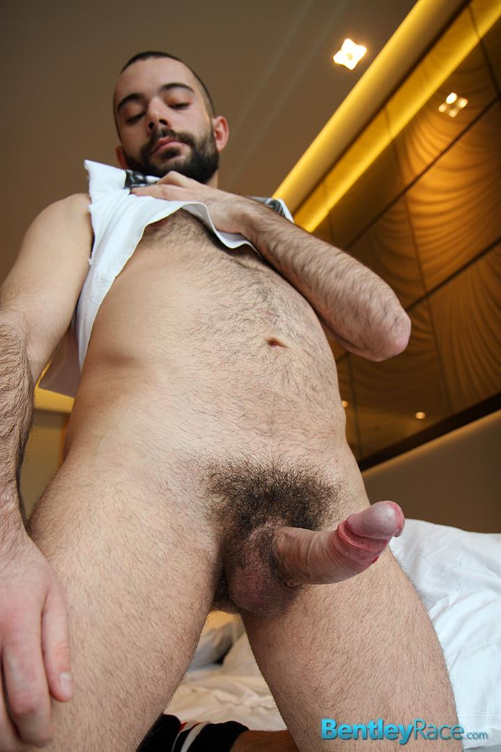 Bentley-Race-Anthony-Russo-Hairy-Italian-Jerking-Off-His-Big-Uncut-Cock-Amateur-Gay-Porn-06 24 Year Old Italian Stud Squirting Cum From His Big Uncut Cock
