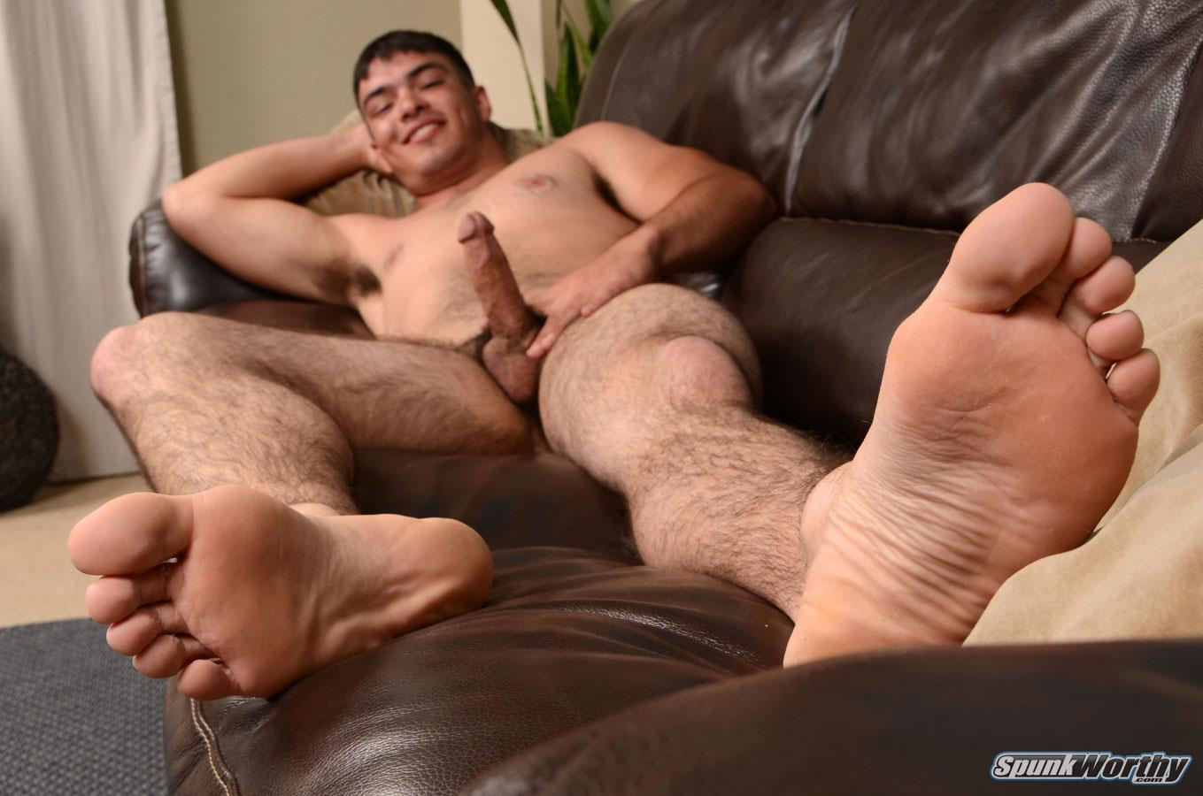 SpunkWorthy-Nevin-Hairy-Young-Marine-Jerking-His-Cock-Amateur-Gay-Porn-16 Straight Young Marine From Texas Jerking His Hairy Cock