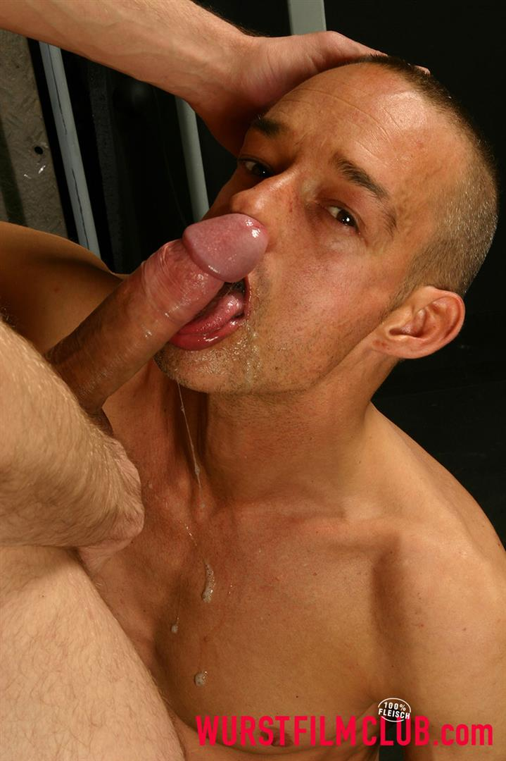Gay gagging on cock
