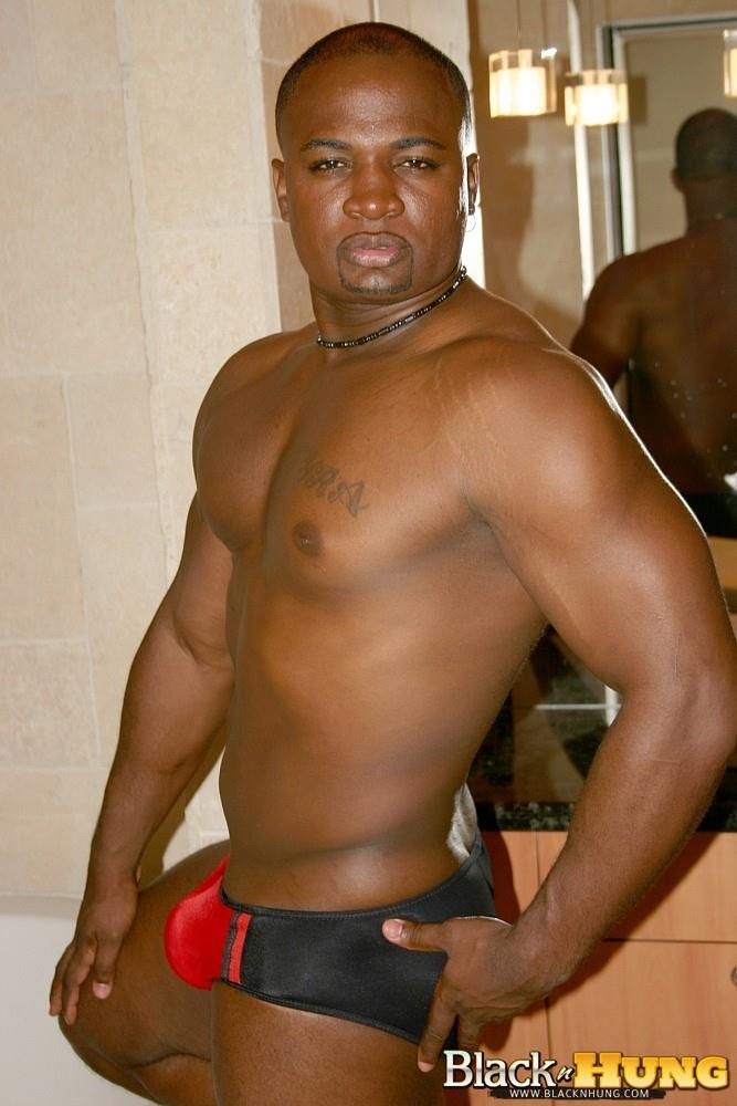 Black N Hung D Total Package Black Muscle Thug Jerking His Thick Black Cock Amateur Gay Porn 09 Black Muscle Thug Jerking Off His Thick Black Cock