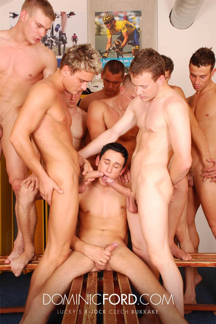 Dominic-Ford-8-Guy-Jocks-Big-Uncut-Cock-Bukkake-Czech-Amateur-Gay-Porn-400 Amateur Czech Uncut Jocks Giving One Lucky Guy An 8 Man Bukkake