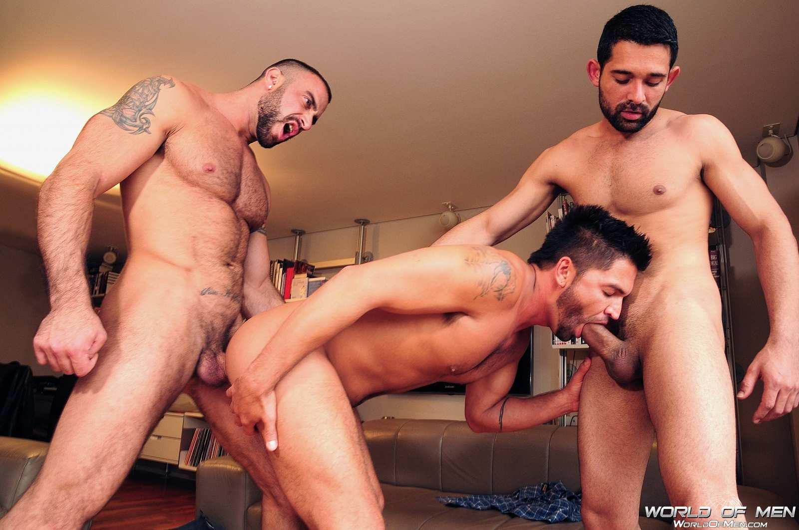 World Of Men Spencer Reed and Dominic Pacifico and Billy Baval Taking Two Huge Cocks Up The Ass Tagteam Amateur Gay Porn 07 Dominic Pacifico Getting Tag Teamed By Two Huge Cocks