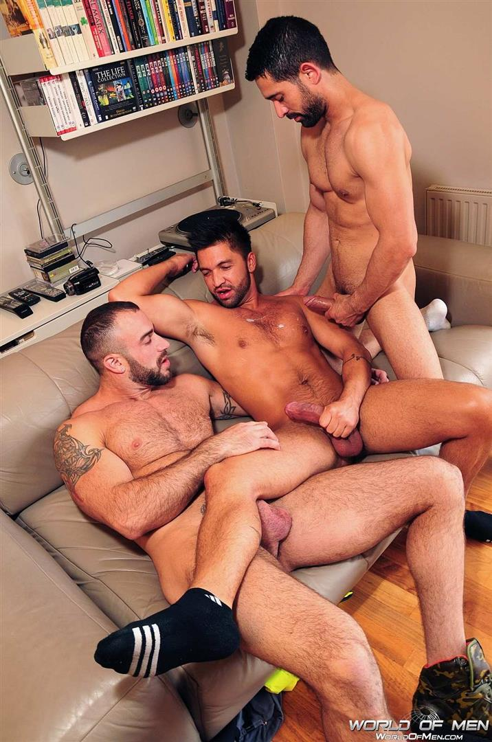 World Of Men Spencer Reed and Dominic Pacifico and Billy Baval Taking Two Huge Cocks Up The Ass Tagteam Amateur Gay Porn 10 Dominic Pacifico Getting Tag Teamed By Two Huge Cocks