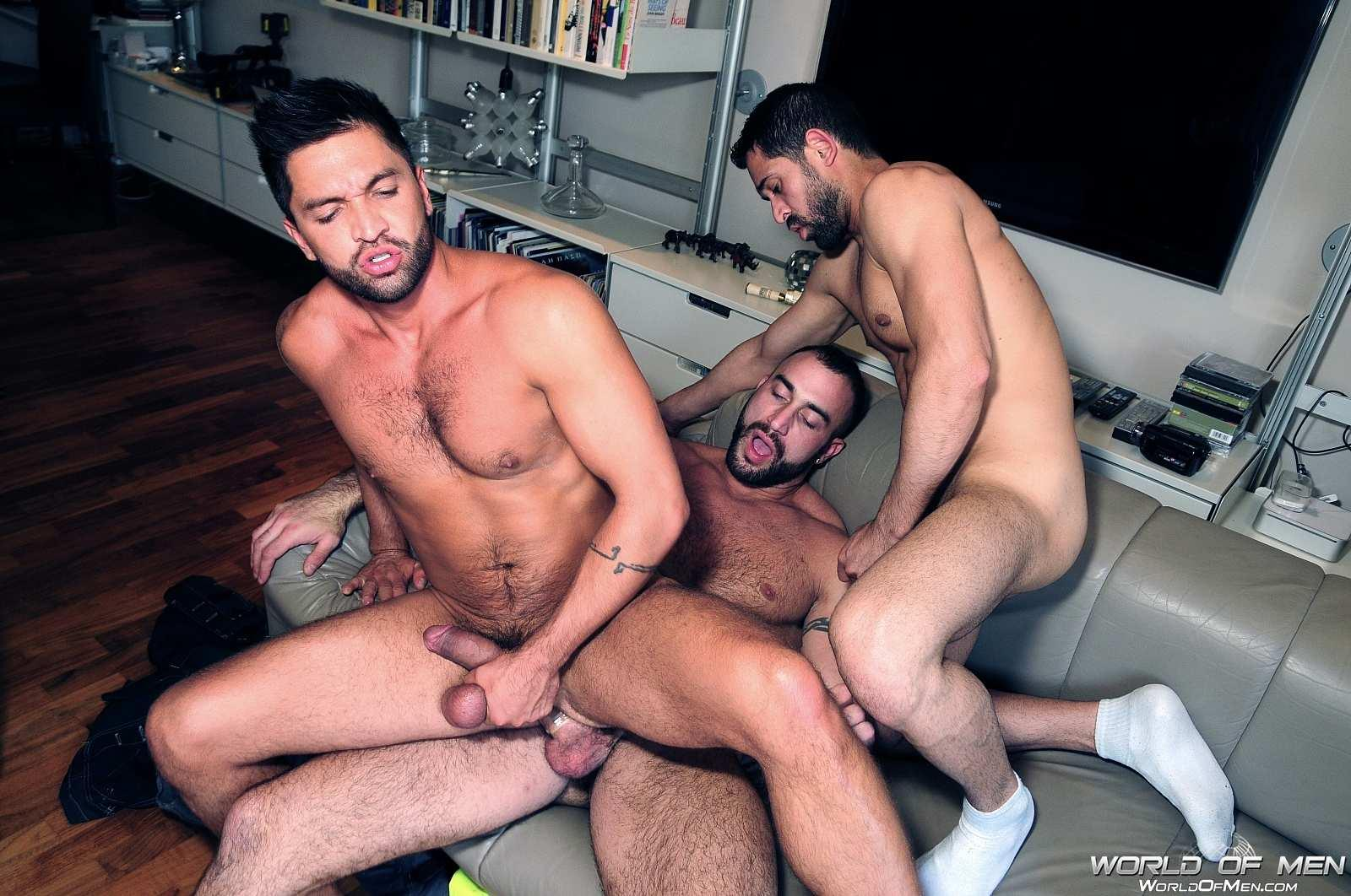 World Of Men Spencer Reed and Dominic Pacifico and Billy Baval Taking Two Huge Cocks Up The Ass Tagteam Amateur Gay Porn 19 Dominic Pacifico Getting Tag Teamed By Two Huge Cocks