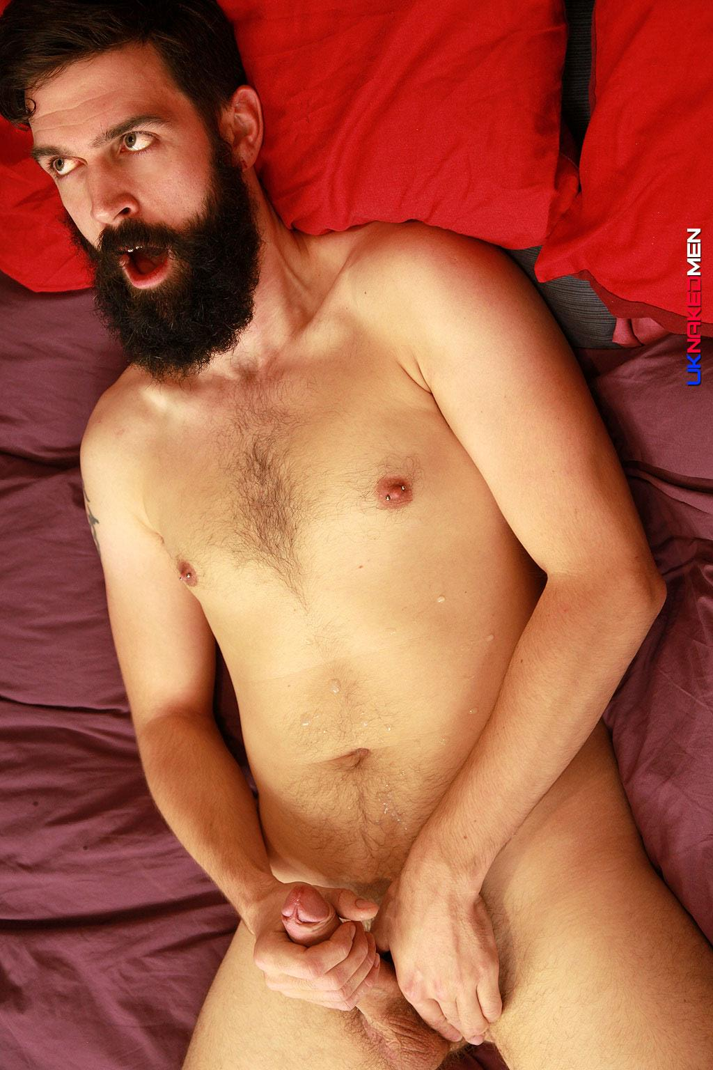 UK Naked Men Tom Long Bearded Guy With A Big Uncut Cock Jerk Off Amateur Gay Porn 13 Bearded Guy From England Jerking His Big Uncut Cock
