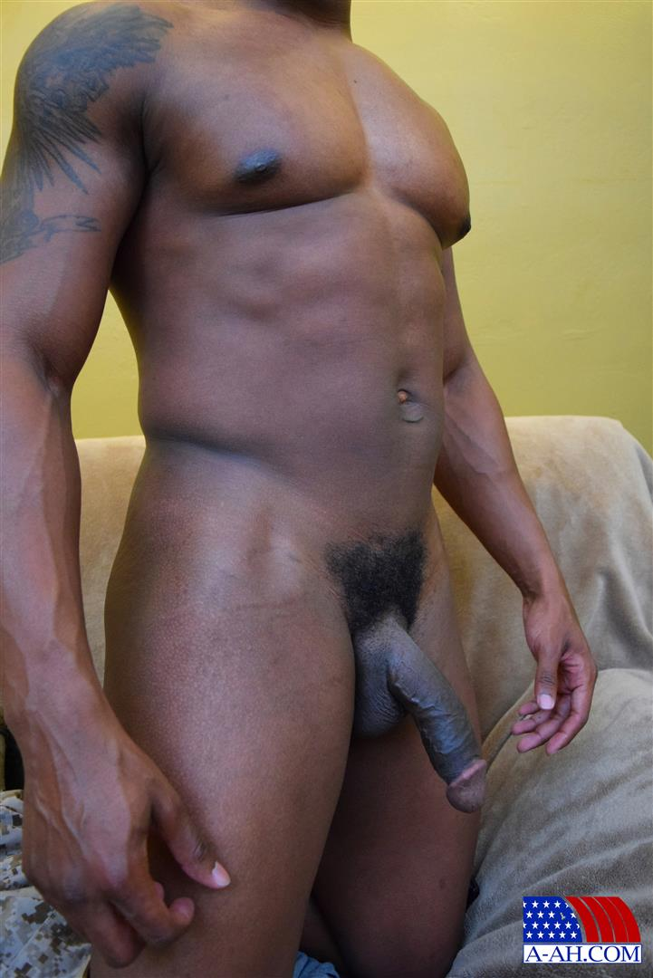 All American Heroes Sean Muscle Navy Petty Officer Jerking Big Black Cock Amateur Gay Porn 14 Big Muscular Black Navy Petty Officer Jerking His Big Black Cock