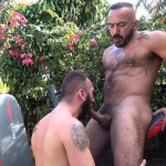 Cum Pig Men Alessio Romero and Ethan Palmer Hairy Muscle Latino Daddy Cocksucking Amateur Gay Porn 06 150x150 Hairy Latino Muscle Daddy Gets A Load Sucked Out And Eaten