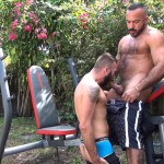 Cum Pig Men Alessio Romero and Ethan Palmer Hairy Muscle Latino Daddy Cocksucking Amateur Gay Porn 40 150x150 Hairy Latino Muscle Daddy Gets A Load Sucked Out And Eaten