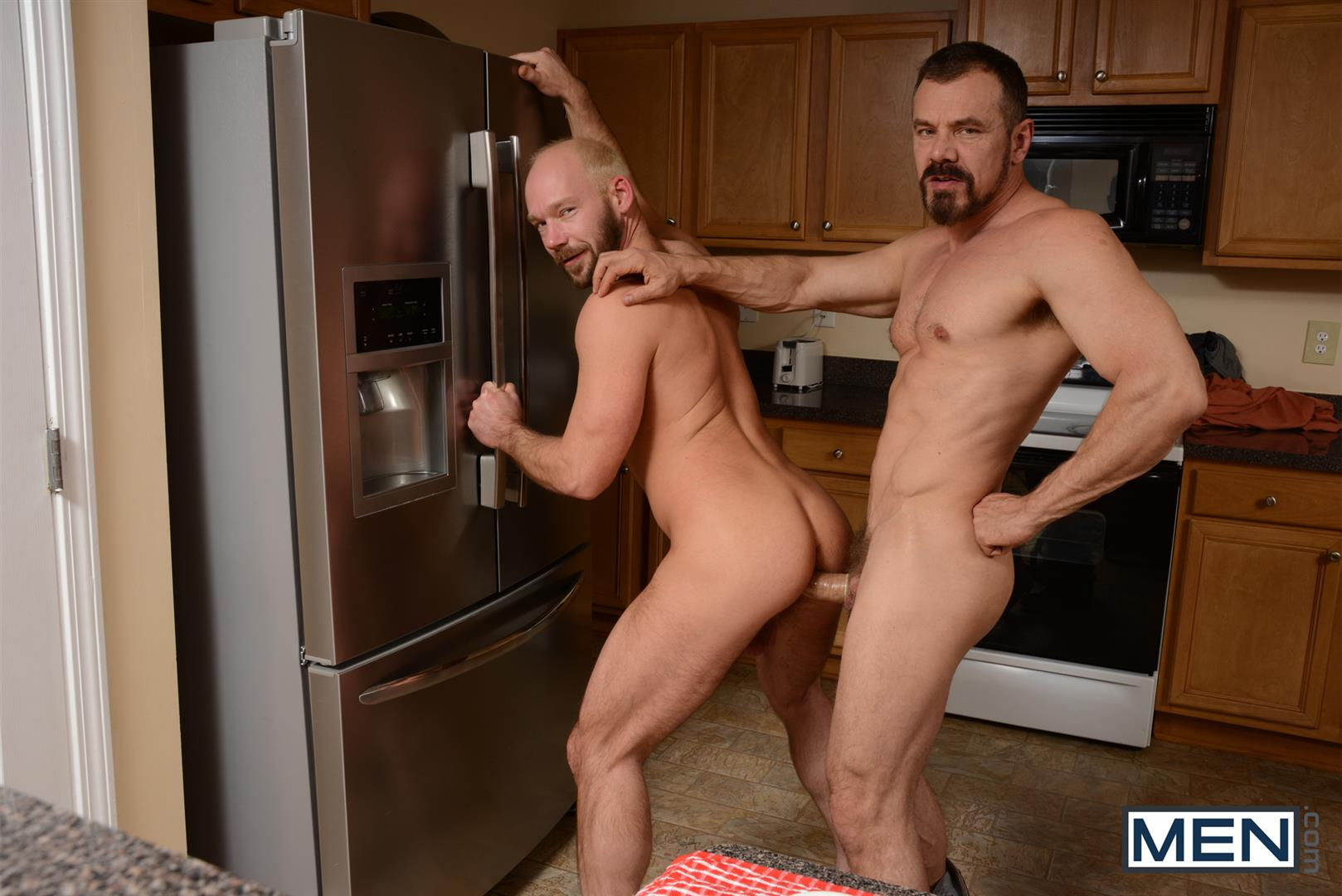 Men-Drill-My-Hole-Max-Sargent-and-Mike-Tanner-Thick-Cock-Daddys-Fucking-Amateur-Gay-Porn-06 Hairy Muscle Daddy's Fucking In The Kitchen And Eating Cum
