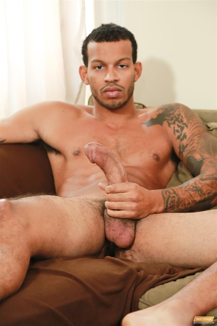 Next-Door-Ebony-Mike-Mann-Naked-Black-Man-Jerking-His-Big-Black-Cock-Amateur-Gay-Porn-11 Sexy Amateur Black Hipster Jerking His Big Black Cock
