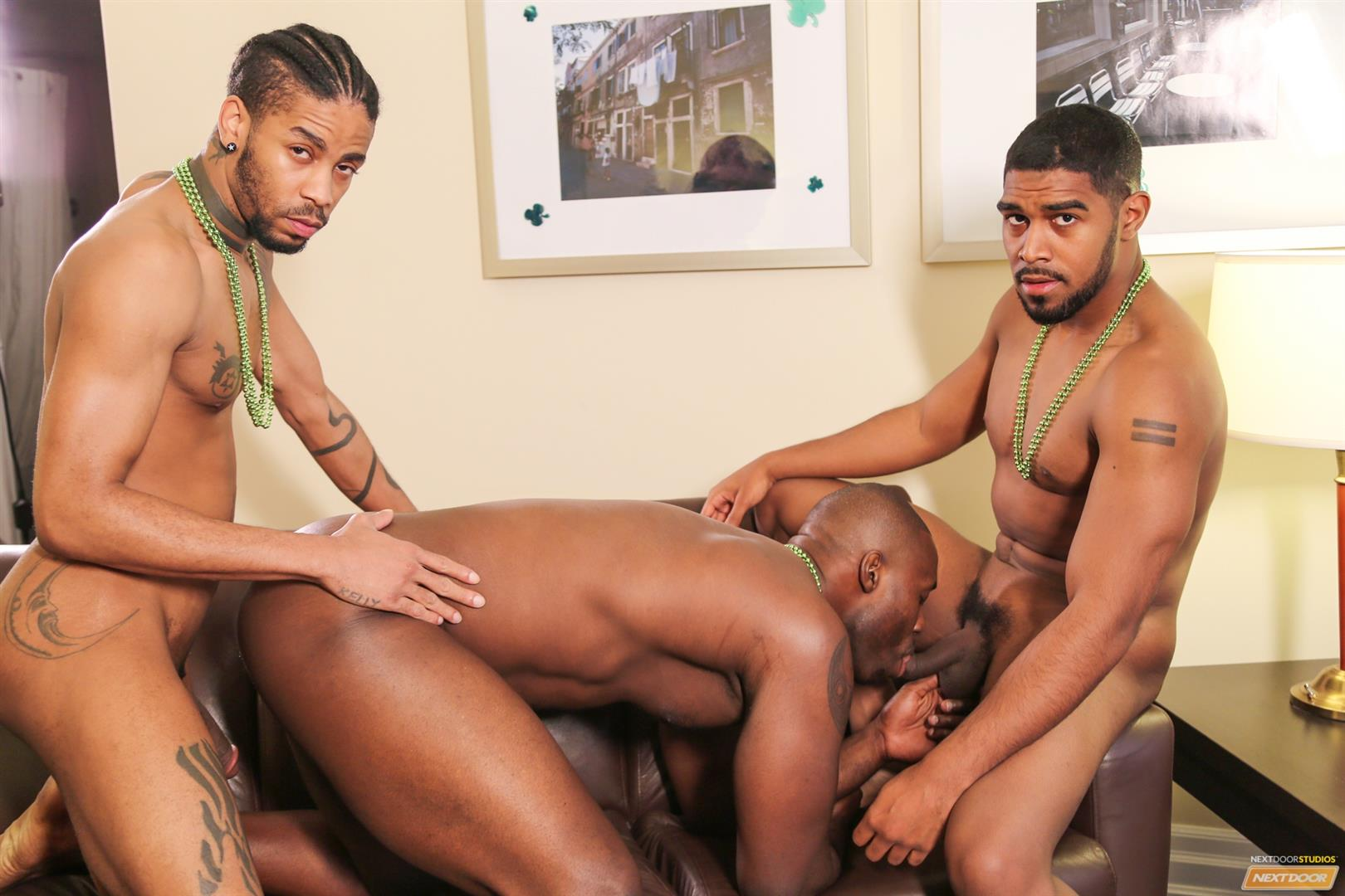 Next Door Ebony Nubius and Jin Powers and XL Naked Thugs Threeway Fucking Amateur Gay Porn 11 Big Black Cock Threeway Suck and Fuck Thug Fest