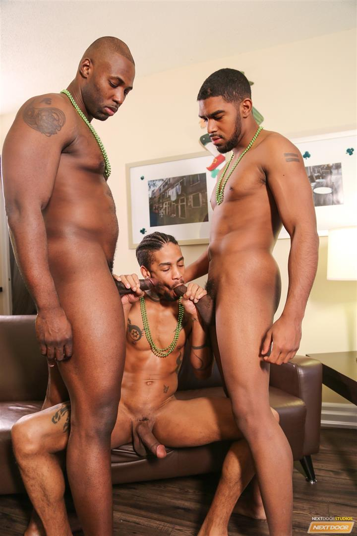 Next Door Ebony Nubius and Jin Powers and XL Naked Thugs Threeway Fucking Amateur Gay Porn 14 Big Black Cock Threeway Suck and Fuck Thug Fest