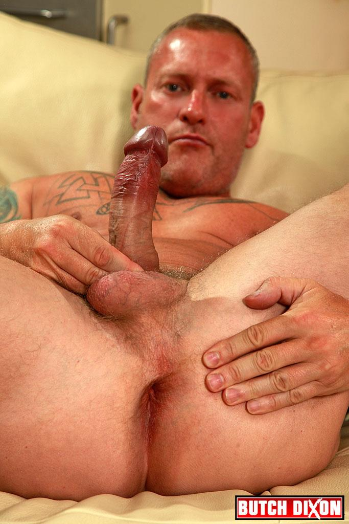 Butch Dixon Big T British Muscle Daddy With A Big Uncut Cock Amateur Gay Porn 13 British Muscle Daddy Jerking Off His Big 9