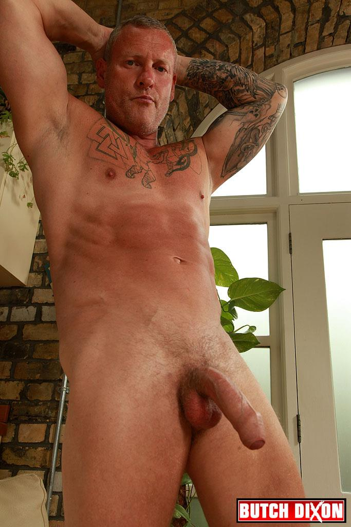 Butch-Dixon-Big-T-British-Muscle-Daddy-With-A-Big-Uncut-Cock-Amateur-Gay-Porn-22 British Muscle Daddy Jerking Off His Big 9