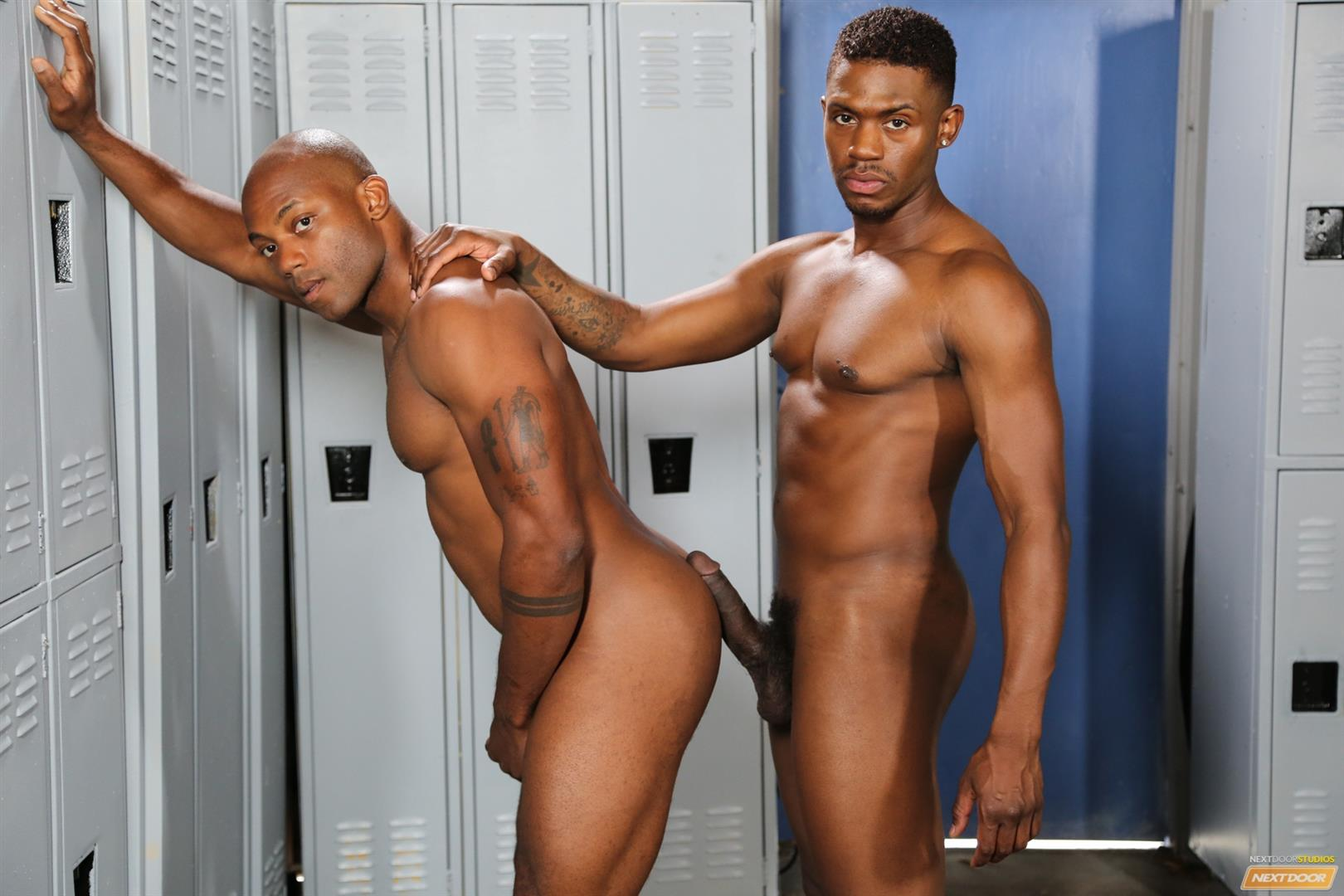 Next Door Ebony Krave Moore and Osiris Blade Big Black Cocks Dicks Fucking Amateur Gay Porn 13 Muscular Black Guys Take Turns Fucking Each Other In The Locker Room