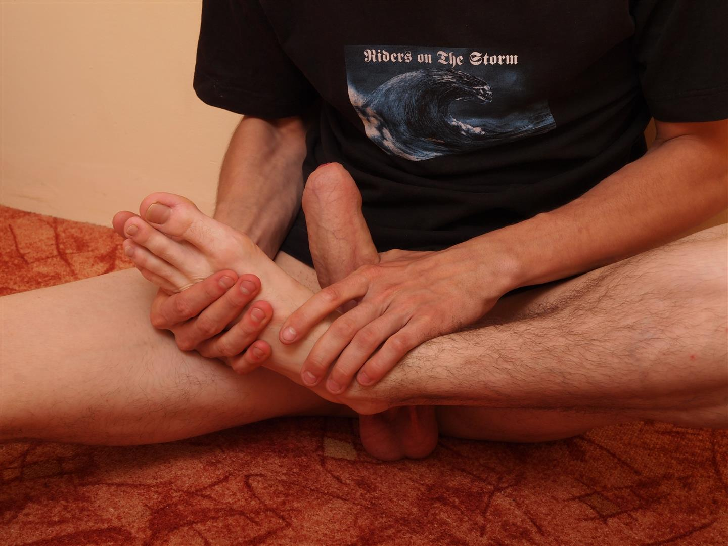 Toe-Sucking-Guys-Eryk-Twink-Playing-With-His-Feet-and-Big-Uncut-Cock-Amateur-Gay-Porn-13 Twink Uses His Shoes and Socks To Jerk His Thick Uncut Cock