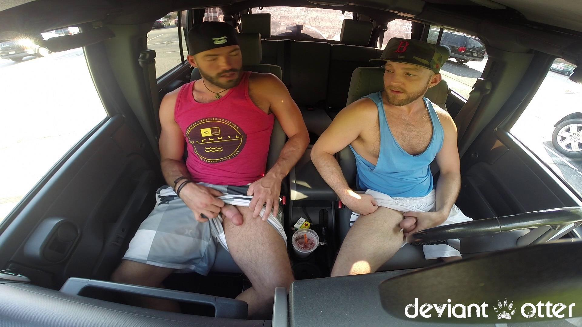 Deviant-Otter-Xavier-Sucking-Cock-In-Public-Hairy-Guys-Amateur-Gay-Porn-02 Masculine Hairy Guys Sucking Each Other's Cock In A Parking Lot
