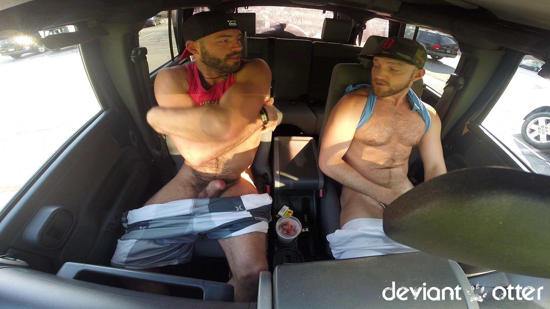 Deviant-Otter-Xavier-Sucking-Cock-In-Public-Hairy-Guys-Amateur-Gay-Porn-09 Masculine Hairy Guys Sucking Each Other's Cock In A Parking Lot