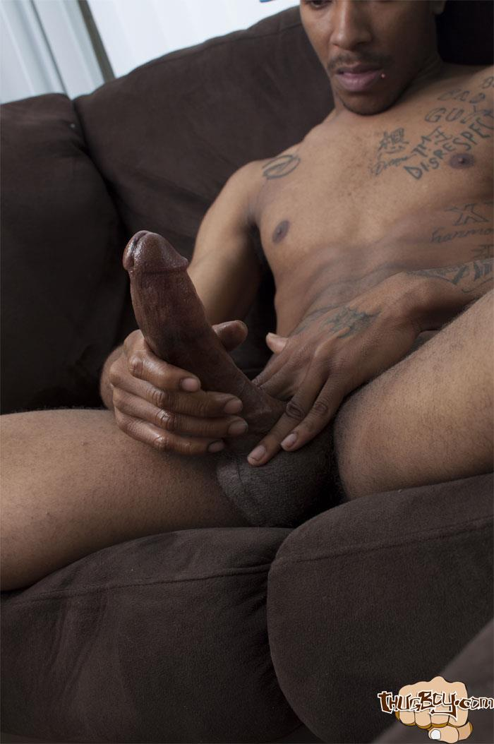 Thug Boys Black Noir Big Black Cock Jerk Off Video Amateur Gay Porn 39 Straight LA Thug Black Noir Jerking His Big Black Cock
