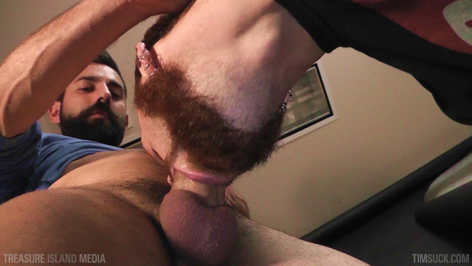 Treasure Island Media TimSuck Pete Summers and Dean Brody Sucking A Big Uncut Cock Amateur Gay Porn 01 Bearded Ginger Services A Big Uncut Cock And Eats The Cum