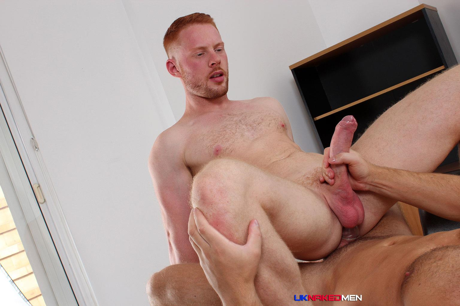 redhead takes black cock from behind