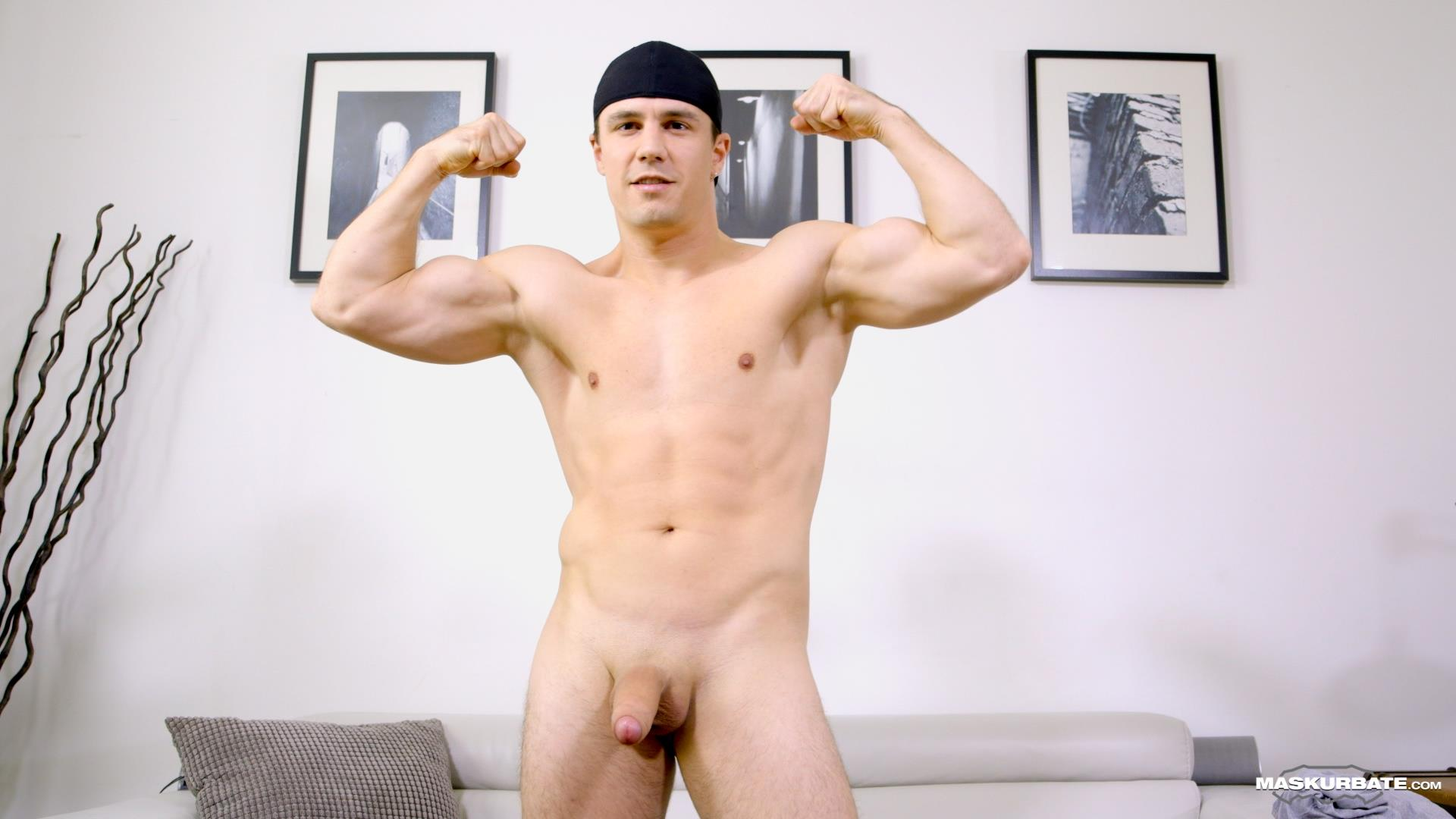 Maskurbate-Ricky-Muscl-Jock-Stroking-His-Big-Uncut-Cock-Amateur-Gay-Porn-06 Smooth Muscle Jock Stroking His Big Uncut Cock