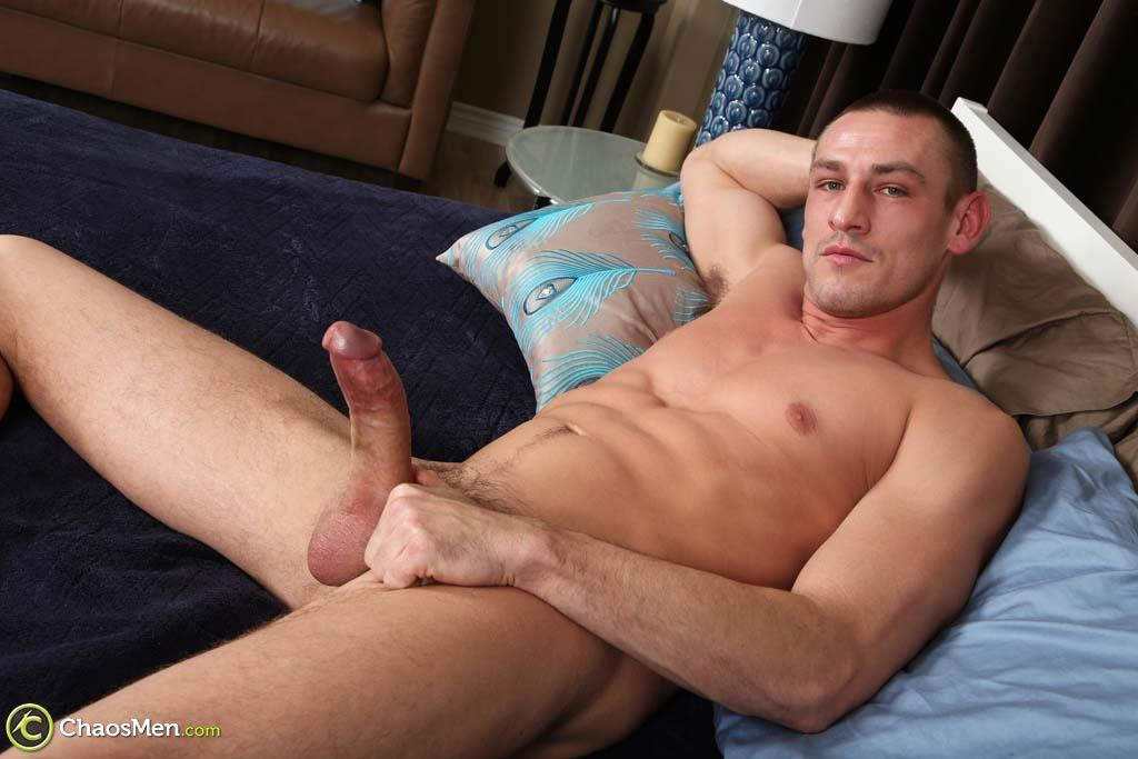 Chaosmen-Kirkland-Straight-Muscle-Hunk-Jerks-Big-Cock-Amateur-Gay-Porn-33 Straight Muscle Hunk Jerks His Big Dick When He Auditions For Gay Porn
