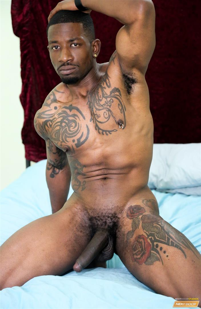 Next-Door-Ebony-Muscular-Black-Guys-Fucking-Free-Gay-Sex-Video-03 A Hard Morning Fuck With Two Hung Black Lovers