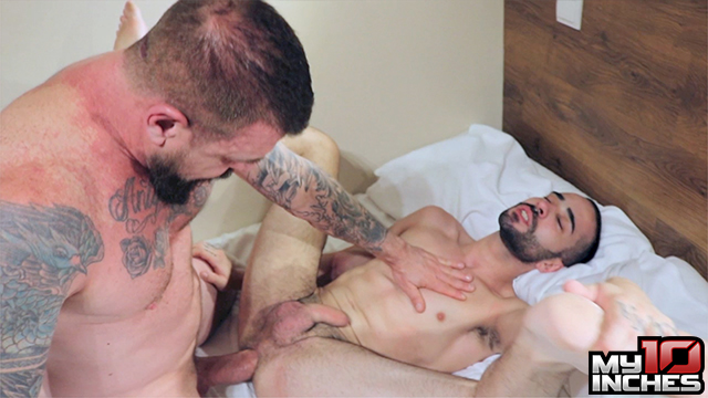 My 10 Inches Rocco Steele and Rafa Marco Big Cock Bareback Sex 09 Muscle Daddy Rocco Steele Breeds A Hot Spanish Ass