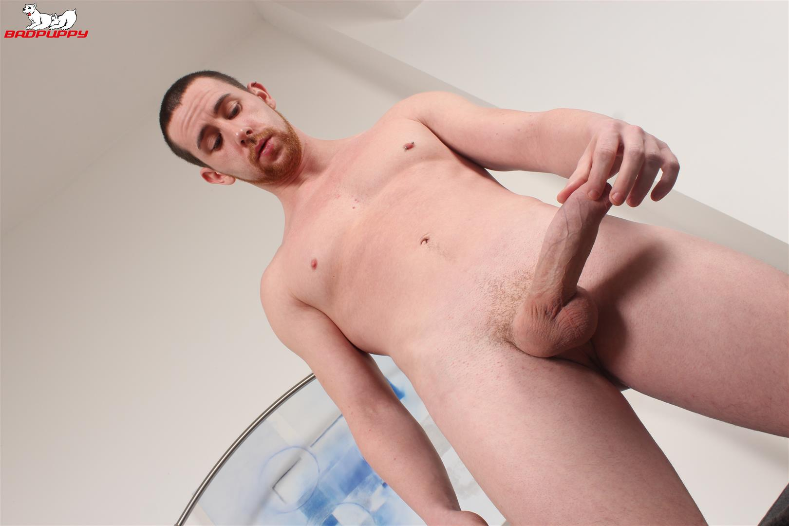 Badpuppy-Anthony-Naylor-Big-Uncut-Cock-Masturbation-08 Sexy British Amateur Plays With His Big Uncut Horse Cock