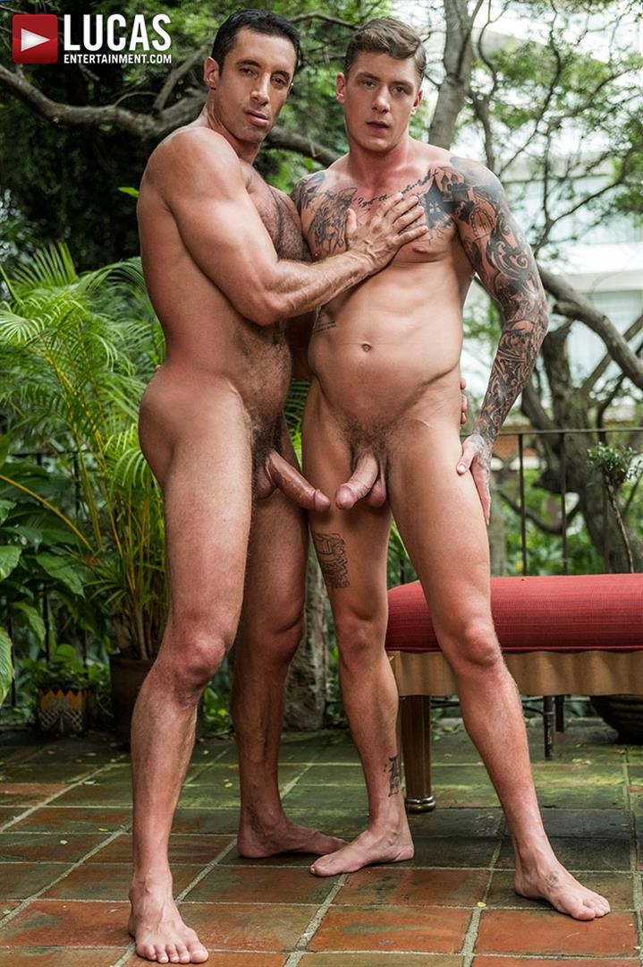 Lucas-Entertainment-Geordie-Jackson-and-Nick-Capra-Bareback-Muscle-Hunks-03 Muscle Stud Geordie Jackson Barebacks Hairy Muscle Hunk Nick Capra