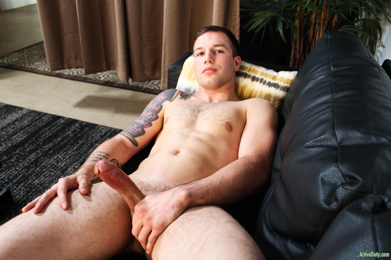 Active-Duty-Tim-Tank-Muscular-Marine-With-A-Thick-Cock-Jerk-Off-13 Muscular Straight Marine Jerking Off His Very Thick Dick