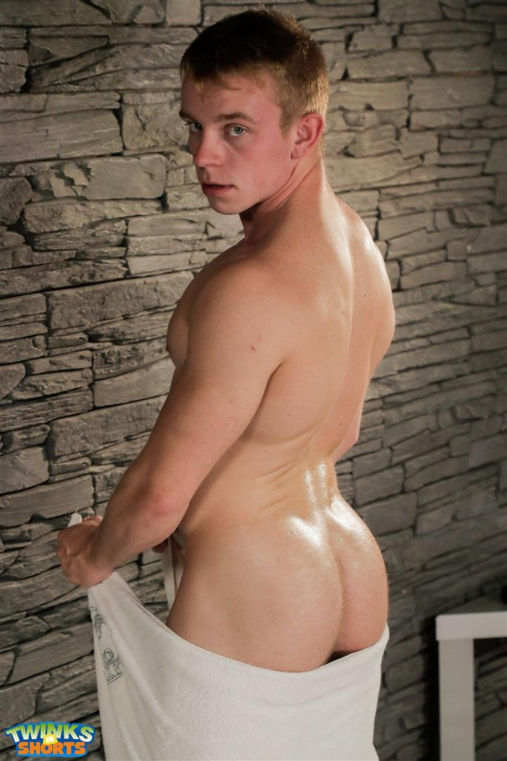 Twinks-in-Shorts-Gordon-Grant-Twink-With-Big-Uncut-Cock-Bubblebutt-02 Muscle Twink Gordon Grant And His Huge Uncut Cock